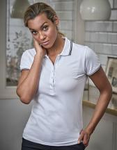 Ladies Luxury Stripe Stretch Polo