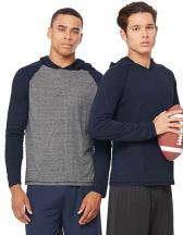 Men`s Performance Triblend Long Sleeve Hooded Pullover