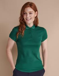 Ladies` Stretch Polo Shirt + Wicking Finish