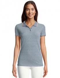 Womens Heather Polo Shirt Paname
