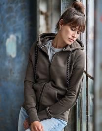 Ladies` Fashion Full Zip Hood