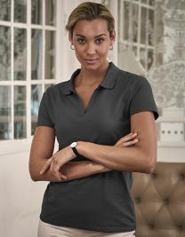 Womens Luxury Stretch V-Neck Polo