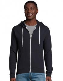 Hooded Zipped Jacket Silver