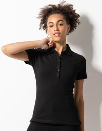 Ladies` Short Sleeved Stretch Polo