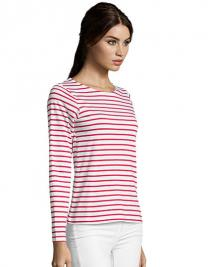 Women`s Long Sleeve Striped T-Shirt Marine