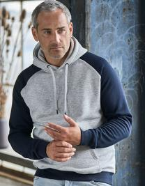 Two-Tone Hooded Sweatshirt